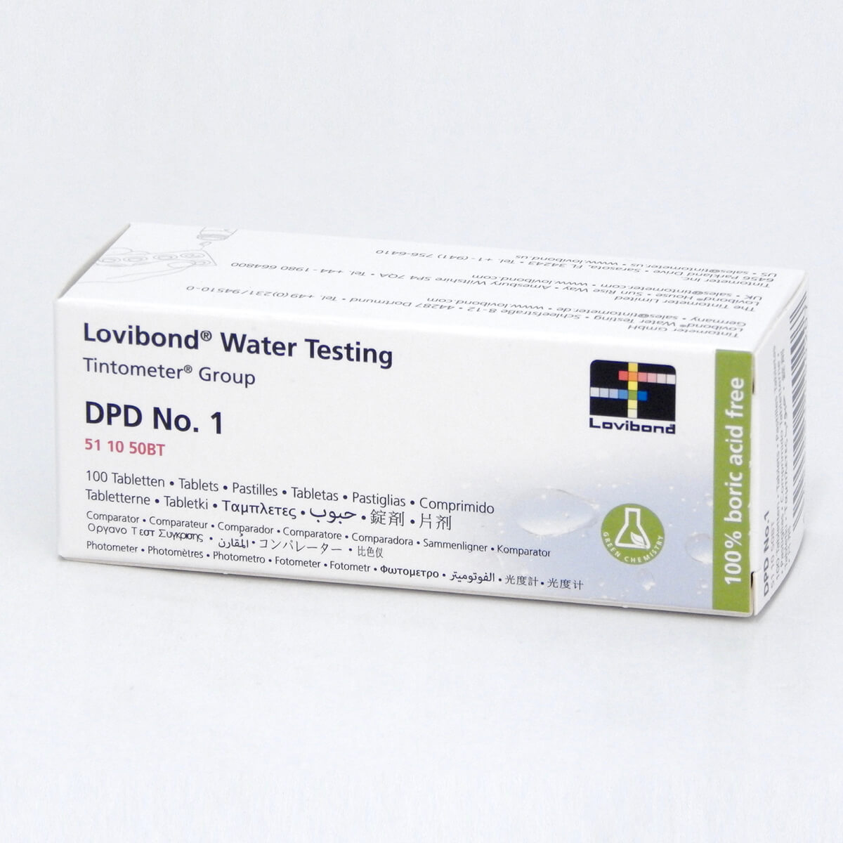 Lovibond DPD No 4 Tablets 100 Box